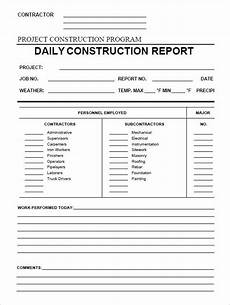 Bau Tagesbericht Vorlage - daily construction report template 25 free word pdf