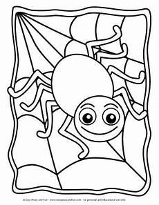 Window Color Malvorlagen Spinne Coloring Pages Easy Peasy And