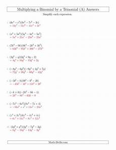 multiplying a binomial by a trinomial all
