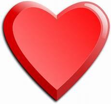 Gambar Vektor Ikon Hati Merah Tebal Domain Publik Vektor