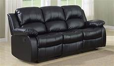 classic 3 seat bonded leather recliner sofa