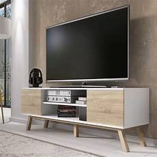 Meuble Tv Meuble Salon Vero Bois 150 Cm Blanc Mat