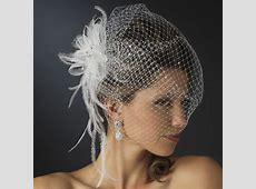 Jeweled Feather Fascinator V Cage 3631 w/ Russian Veil