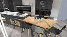 Cuisine Moderne Avec Table Ilot Design 1 Kitch N En 2019
