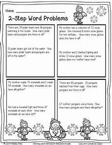 2 step word problems worksheets 2nd grade 11434 winter math printables math word problems word problems 2nd grade math