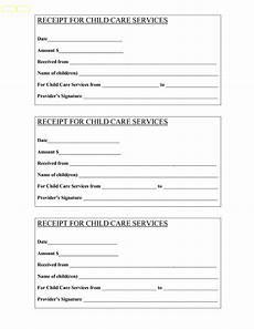 babysitter receipt babysitting receipt bing images child care services