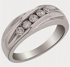 fancy silver mens wedding rings uk 5 diamond design