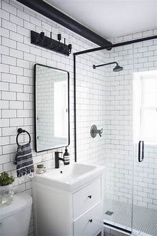 shower ideas for bathrooms a modern meets traditional black and white bathroom makeover lynne