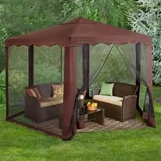 tent gazebo 13 w waterproof hexagon screened steel framed gazebo tent