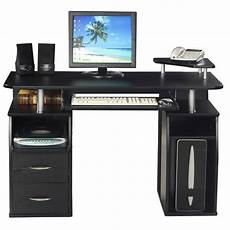 next home office furniture essentials double pedestal computer desk with 2 drawers