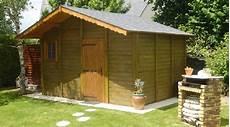 Abri De Jardin En Beton Aspect Bois 2 Pentes Couverture