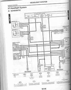 Headlight Wiring Diagram 2 by Scan Of Headlight Wiring Diagram From 02 Service Manual