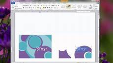 birthday card layout for word creating personal invitations using microsoft word 2010