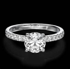 wedding bands for solitaire rings 1 carat d si1 enhanced diamond engagement ring round cut