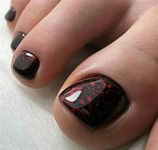 red black toenails pedicure designs toenails glitter