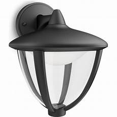 philips robin single light led outdoor wall fitting in black finish lighting type from