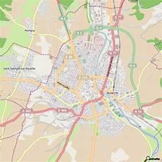 carte sur table auxerre plan auxerre carte ville auxerre