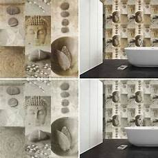 Rasch Bathroom Wallpaper by Kitchen Bathroom Buddha Tile Wallpaper Washable Vinyl Leaf