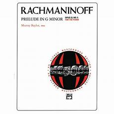 alfred masterwork editions rachmaninoff prelude in g minor opus 23 no 5 for the piano