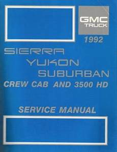 small engine repair manuals free download 1992 gmc 1500 parking system 1992 gmc sierra yukon suburban crew cab 3500 hd factory service manual
