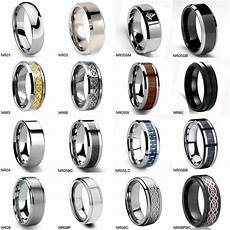 tungsten wedding ring mens anniversary band comfort fit
