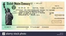 us treasury income copy of a fictitious united states treasury refund check