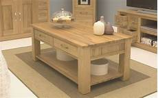 Oak Coffee Tables With Storage conran solid oak living room lounge furniture four drawer