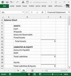 balance sheet excel create a balance sheet with excel excel university