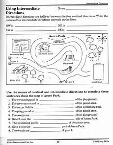 worksheets with directions 11783 intermediate directions worksheet graphic design logos student parks and and