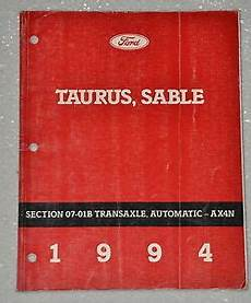 service and repair manuals 1987 ford taurus electronic toll collection 1994 ford taurus mercury sable ax4n automatic transaxle service repair manual ebay