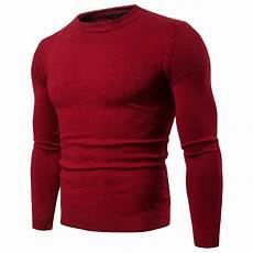 2019 slim fit pullover sweater fashion tops with sleeve crew neck high quality