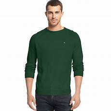 hilfiger american crewneck sweater in green for