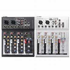 Bakeey Professional Channel Sound Card Channel by Black White 4 Channel Professional Live Mixing Studio
