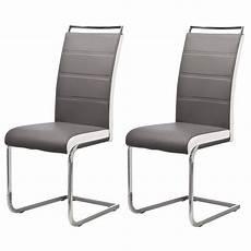 chaises salle à manger lot de 6 chaises de salle 224 manger gris blanc