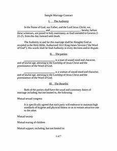 marriage contract template free download edit fill create and print wondershare pdfelement