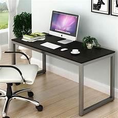 shw home office 55 inch large computer desk espresso ebay