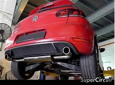 supercircuit exhaust pro shop sound level for vw golf 6