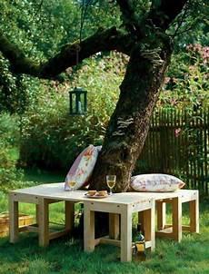 Baumstumpf Im Garten Verschönern - 50 coole garten ideen f 252 r gartenbank selber bauen garten