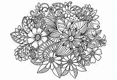 Malvorlage Erwachsene Blumen цветочные узоры Flower Pattern Background White And