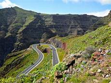 la gomera island canary islands road into valle