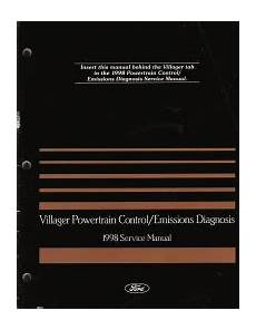vehicle repair manual 1997 mercury villager engine control 1998 mercury villager powertrain service manual