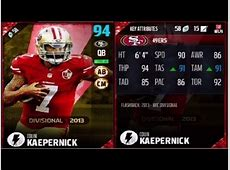 colin kaepernick madden 18 rating