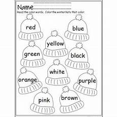 color review worksheets for preschool 12881 colorful winter hats preschool colors preschool kindergarten