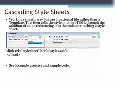 using templates and cascading style sheets10