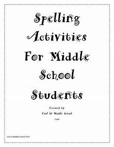 spelling practice worksheets middle school 22479 middle school spelling engaging activities any list by cool n middle school