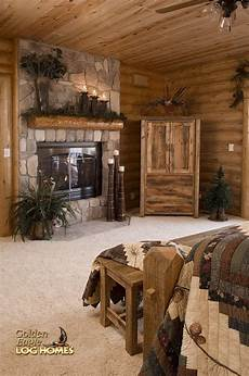 Rustic Wood Home Decor Ideas by Master Bedroom Cottage In The Pines Log Home