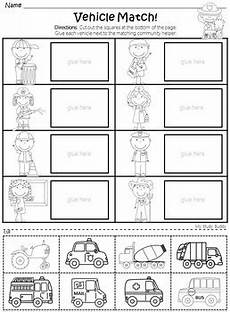 community helpers worksheets kindergarten by my study buddy tpt
