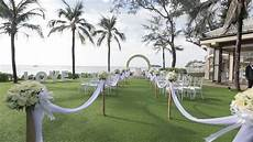 beautiful wedding setup tropical background stock footage video 20074117