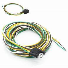 25 4 way trailer wiring connection kit flat wire extension harness boat car rv 9 99 picclick