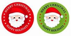 merry christmas sticker buttons premium vector